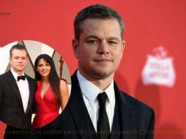 Matt Damon wife Luciana Barroso